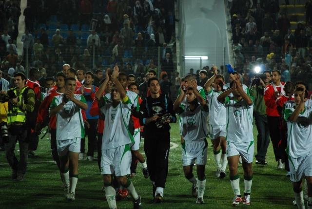 Första matchen palestinska landslaget tilläts att spela på hemmaplan 2008. Mot Jordanien. Foto: Anna Wester