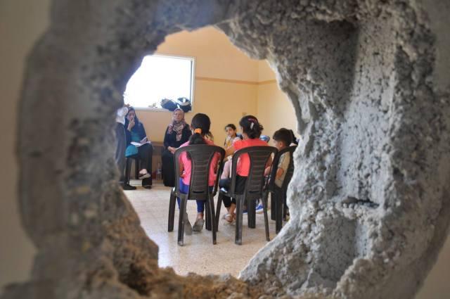 Aktiviteter med Gaza Community Mental Health Programme Foto: GCMHP